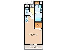 シャトーアムール[1階]の間取り