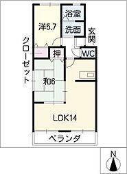 パールハイツ96[2階]の間取り