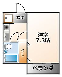 プレンティハウス[3階]の間取り