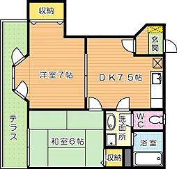 サンライズアリタ B棟[2階]の間取り