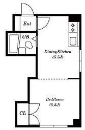 センターハイツmori[2階]の間取り