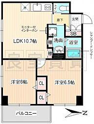 愛知県名古屋市昭和区白金1丁目の賃貸マンションの間取り