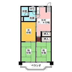 フィレンツェ弥富第二[4階]の間取り