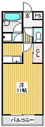 愛知県名古屋市港区入場1丁目の賃貸アパートの間取り