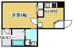 リヴェール天下茶屋[5階]の間取り