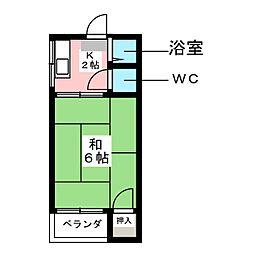 松本コーポ[2階]の間取り