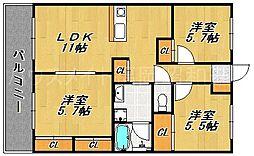 アベニールKAI[4階]の間取り