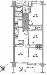 舎人親水公園マンション[4階]の間取り