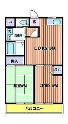 グリーンファミール[3階]の間取り