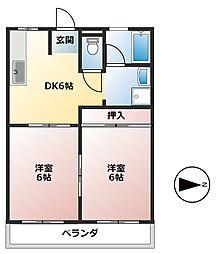 CASA KII[2階]の間取り