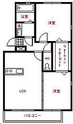 ヴェルドミュールM、I、E[1階]の間取り