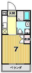 ドーリアNEXT花園[5-B号室]の間取り