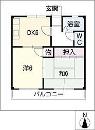 ドリームハウス[2階]の間取り