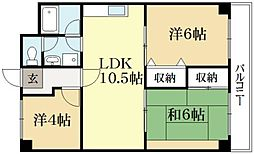 交徳マンション[3階]の間取り