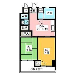 センターいずみビル[7階]の間取り