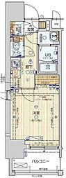 Osaka Metro長堀鶴見緑地線 ドーム前千代崎駅 徒歩5分の賃貸マンション 2階1Kの間取り