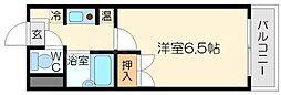 ハイツロフティー[6階]の間取り