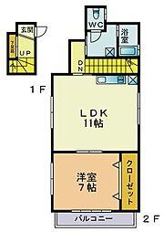 田村宅[3階号室]の間取り