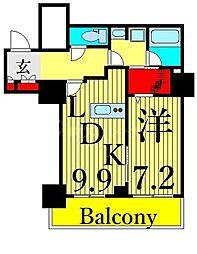 東京メトロ日比谷線 南千住駅 徒歩5分の賃貸マンション 4階1DKの間取り