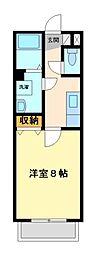 神奈川県川崎市宮前区小台2丁目の賃貸アパートの間取り