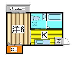 flat sawa[1階]の間取り