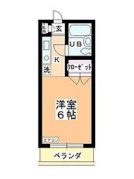 ステーションヴィラ鶴ヶ島[306号室]の間取り