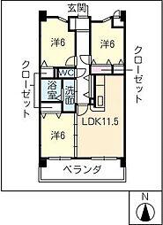 プラウ正木[4階]の間取り