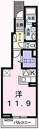 東京都青梅市野上町3丁目の賃貸アパートの間取り