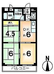 西京極ハイツ[8階]の間取り