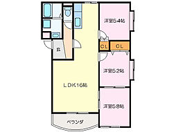 WOODS HOUSE[3階]の間取り