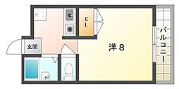 西村マンション[3階]の間取り