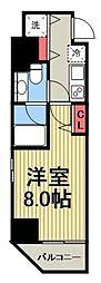 カーサスプレンディッド虎ノ門 11階1Kの間取り