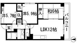 リゾうねの2[2階]の間取り