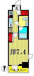 東武亀戸線 亀戸水神駅 徒歩10分の賃貸マンション 10階1Kの間取り