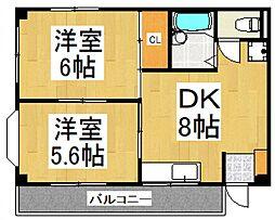 クルトーア東所沢[301号室号室]の間取り