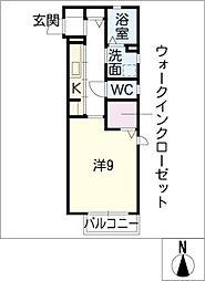 プラセール城見ヶ丘[2階]の間取り