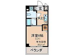 京都府京都市山科区安朱中小路町の賃貸マンションの間取り