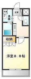 高松琴平電気鉄道琴平線 太田駅 3.2kmの賃貸アパート 1階1Kの間取り