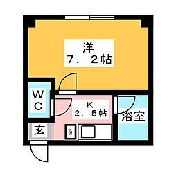 アシスト第2青森マンション[3階]の間取り