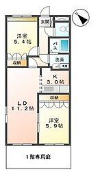 ルーラル七反田[1階]の間取り