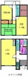 [テラスハウス] 大阪府岸和田市箕土路町2丁目 の賃貸【/】の間取り