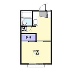 パーシモンハイム[2階]の間取り