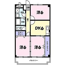 ディアコート横山[3階]の間取り