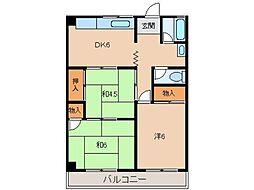 第2山川マンション[2階]の間取り