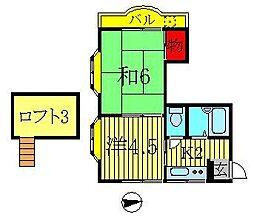 LEAFCOURT江戸川台A・B[A201号室]の間取り