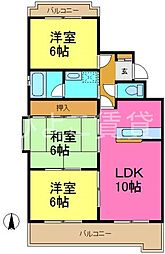 メゾンS&K[4階]の間取り