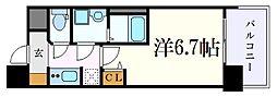 名古屋市営名城線 上前津駅 徒歩3分の賃貸マンション 7階1Kの間取り