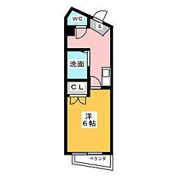 昭和マンション桜[4階]の間取り