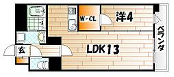 デザイナープリンセス中津口[2階]の間取り