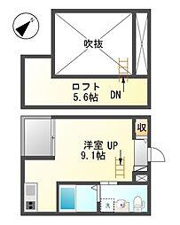 アパートメントK[1階]の間取り